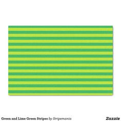 """Green and Lime Green Stripes 10"""" X 15"""" Tissue Paper"""