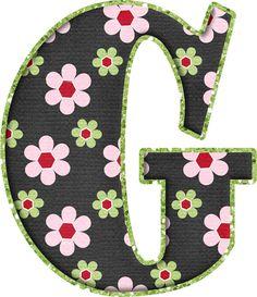 .Alfabeto de florecitas rosas ...De  Eduarda Cavalcanti ...G Letter G, Initial Letters, Diy Painting, Painting On Wood, Wood Initials, The Wedding Singer, Flower Alphabet, Patch Aplique, Decoupage
