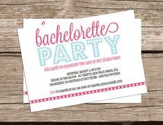 Printable Bachelorette Party Invitation - Girl Party Invitation - Vegas Party Invitation - Bridal Shower Invitation. $15.00, via Etsy.