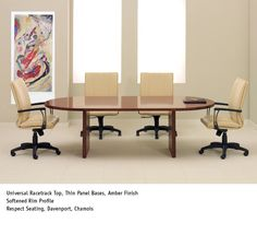 National Office Furniture Universal Table With Respect Task Work Seating In Conference Room