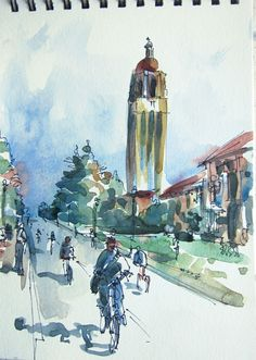 Hoover Tower at Stanford by Suhita