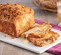Checkout the awesome country Apple Fritter Bread at The Baking ChocolaTess! Delight everyone's taste buds with delicious fluffy, buttery apple fritter bread here. Apple Cinnamon Bread, Apple Fritter Bread, Dessert Simple, Desserts Without Eggs, Easy Desserts, Gourmet Recipes, Cake Recipes, Dessert Recipes, Cat