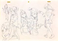 Little Witch Academia Animation Sketches, Animation Reference, Art Sketches, Game Character Design, Character Drawing, Character Design Inspiration, Anime Kunst, Anime Art, Little Witch Academy