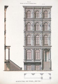 archimaps:  Design for the front facade of a dwelling house, New York City