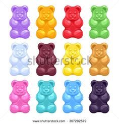 set of colorful beautiful realistic jelly gummy bears. Jelly Bears, Gummy Bears, Bear Drawing, Food Drawing, Cute Wallpapers, Wallpaper Backgrounds, Backgrounds Free, Organize Phone Apps, Candy Images