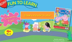 Peppa Pig Colouring Pages-example of printable elements