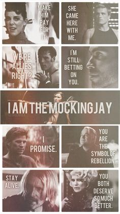 Only thing that bothers me is that Peeta's line is from the first book, not Catching Fire.