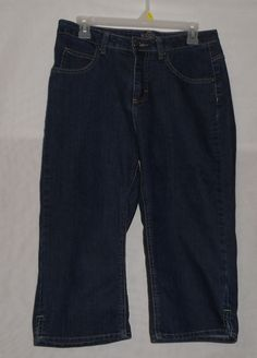 Women's Riders Capri Blue Jeans Size 8M Darkwash #Riders #CapriCropped