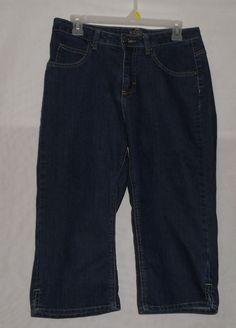 Women's Riders Capri Blue Jeans Size 8M Darkwash #Riders #CapriCropped