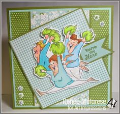 Art Impresssions: CHEER SET(sku #U4551) Ai Girlfriends ... handmade cheerleader You're My Hero card. Great for Mother's Day or birthday!