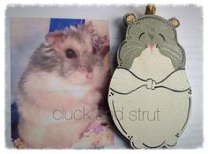 Custom Hamster or Guinea Pig Wood Ornament or by CluckandStrut