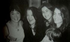 Martha Argerich, with her three daughters: Lyda Chen, Stephanie Argerich and Annie Dutoit with her son Lucas.