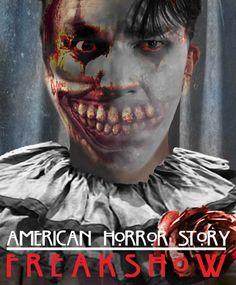"""AHS 4 """"Freak Show"""" Twisty/Dandy morphing. American Horror Story Freak, American Horror Story 3, Roanoke Nightmare, Scary Shows, Freaky Deaky, Dark Stories, Best Of Tumblr, Horror Monsters, Best Series"""