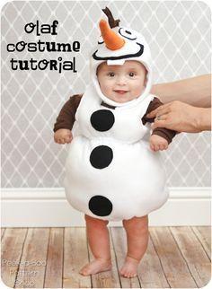 Diy no sew olaf costume clive looked so cute in this crafts baby costume disfraz bebs tiernos cute halloween olaf solutioingenieria Gallery
