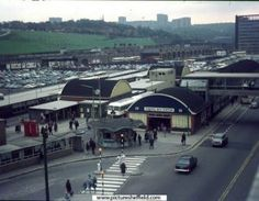 Elevated view of Pond Street Bus Station, Sheffield City, Sheffield England, Sources Of Iron, Bus Station, Local History, Derbyshire, Old Photos, Nice Photos, Back In The Day