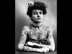 Maud Stevens Wagner, the first known Western female tattooist 1911. Picture courtesy of Margot Mifflin.