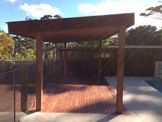 Free standing timber pergola