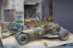 Kitbashed 1:35 scale model using Academy 1:48 Thunderbolt fuselage, Minimanfactory resin KrAZ-255 rear wheels, and many spare parts. Tank resin figures and Miniart building. Titled: Warrior by Akos Szabo. Pinned by #relicmodels