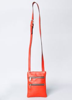 Montague 2 Zip Cross Body Leather Bag, made in Brooklyn