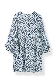 Emory Crepe Dress, Pearl Blue