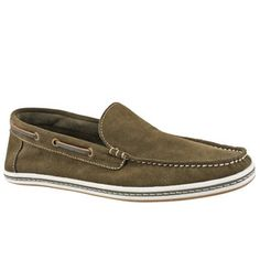 Venetian Suede Boat Shoe Green now featured on Fab.