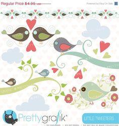 40-60% OFF bird tweet clipart commercial use, vector graphics, digital clip art, digital images  - CL426