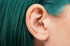 Body Jewelry Update: Much Ado About Daith Piercings Migraine Piercing, Piercing Cartilage, Conch Piercings, Double Cartilage, Tongue Piercings, Body Piercings, Cartilage Earrings, Bar Stud Earrings, Crystal Earrings