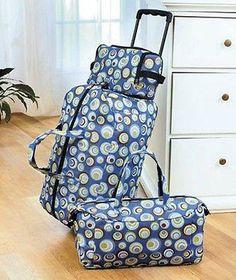 Suite Case Luggage Set Travel Bag Rolling Tote Carryon Handbag 3-pc. PRICE $49.49