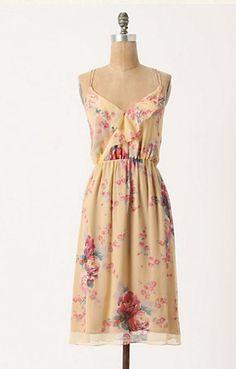Rose & Gold Slip Dress (Anthropologie, $49.95)