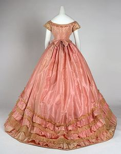 American Dress; 1866-68; made of silk; full back view