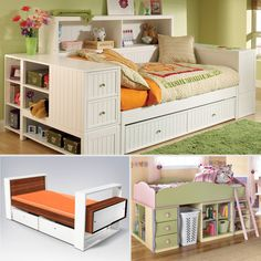 Whether you have a small space or just a lot of stuff, you'll love these big-kid beds that are also big on storage.