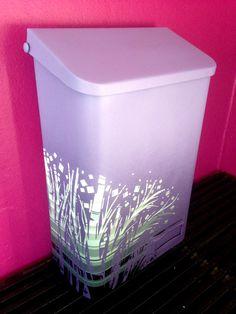 Potkasse i tøft design! Lilla og gråtoner😃💜✉️ www. Container, Design