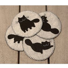 Fat Fabulous Cats Coasters by PudraPembe on Etsy