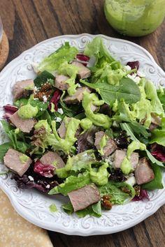 Steak Salad with Creamy Avocado Vinaigrette