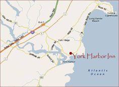 Maine's York Harbor Inn area map