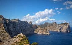 Download wallpapers Mallorca, Balearic Islands, Mediterranean, rocks, coast, seascape, Spain, Cap de Formentor
