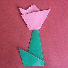 origami stem for flower howto-origami.com