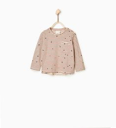 PRINTED STRIPED T-SHIRT from Zara