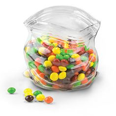 Ist eine geniale Idee, um Süßigkeiten zum Anbieten auf den Tisch zu stellen. Finde ich großartig!!