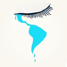 tear map (Mexico,Central & South America) The United States would be the eye, Arte Latina, Brick In The Wall, Art Folder, Calf Tattoo, Chicano Art, Beautiful Costumes, South America, Latin America, Vintage Posters
