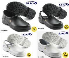 Sika ESD Sicherheitsclogs, super leicht, rutschhemmend, Permair Protector-Leder, atmungsaktiv und wasserabweisend!
