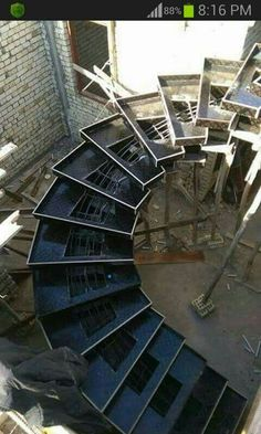 Staircases, Spiral Staircase, Staircase Design, Contemporary Stairs, Modern Stairs, Steel Stairs, Floating Stairs, Metal Structure, Stair Detail