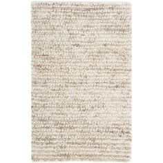 Safavieh Hand-woven Shag White/ Beige Rug (2'3 x 4') | Overstock.com Shopping - The Best Deals on Accent Rugs