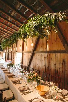 Pretty garland  #lighting, #tablescapes, #chandeliersPhotography: Lauren Fair Photography - laurenfairphotography.comRead More: http://stylemepretty.com/2013/09/04/pennsylvania-wedding-from-lauren-fair-photography-2/