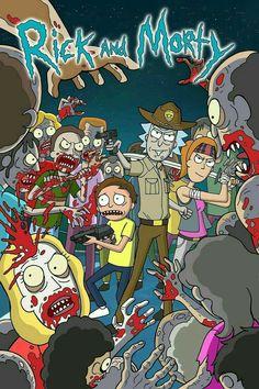 Rick and Morty the Walking Dead, Dan Borgonos Rick And Morty Image, Rick Und Morty, Rick And Morty Quotes, Rick And Morty Poster, Rick And Morty Crossover, Ricky Y Morty, Rick And Morty Drawing, Rick And Morty Stickers, Cartoon Crossovers