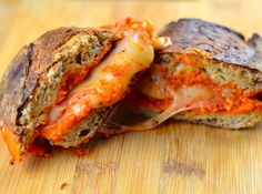 Romesco & Manchego grilled cheese sandwich #grilledCheese