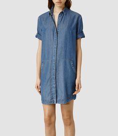 Womens Calla Bay Shirt Dress (Mid Indigo) - product_image_alt_text_1