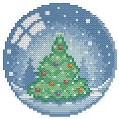 Look at this remarkable photo - what a clever innovation - Ornamental Cross Stitch Christmas Ornaments, Xmas Cross Stitch, Beaded Cross Stitch, Christmas Cross, Cross Stitch Charts, Cross Stitch Designs, Cross Stitching, Cross Stitch Embroidery, Cross Stitch Patterns