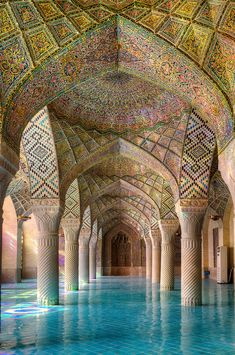 15 Amazing View Of Nasir Ol-mulk Mosque In Shiraz – Iran. 15 Amazing View Of Nasir Ol-mulk Mosque In Shiraz – Iran. Art Et Architecture, Persian Architecture, Mosque Architecture, Beautiful Architecture, Beautiful Buildings, Ancient Architecture, Cultural Architecture, Historical Architecture, Shiraz Iran