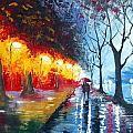 Sunset Tango Painting by Elizabeth Lisa